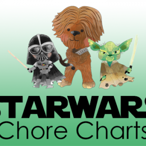 Grab your copy of these Star Wars Chore Charts today!