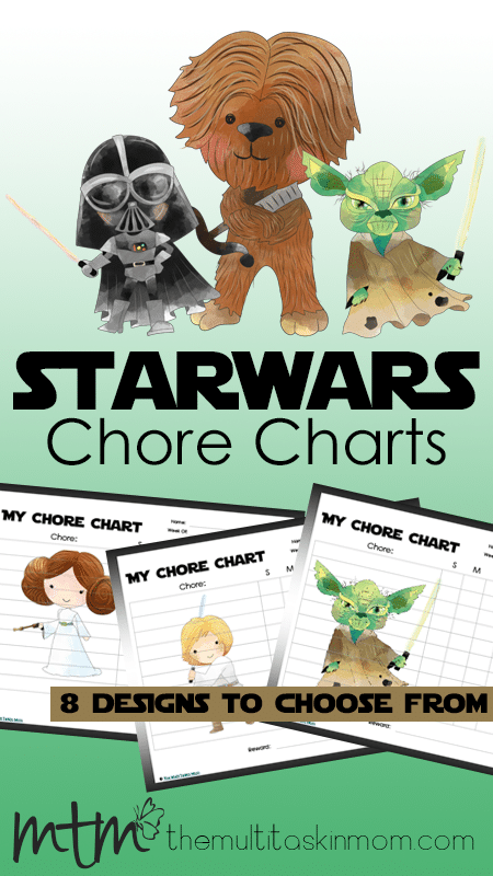 These Star Wars Chore Charts will make cleaning fun for all of your Star Wars Fans!!
