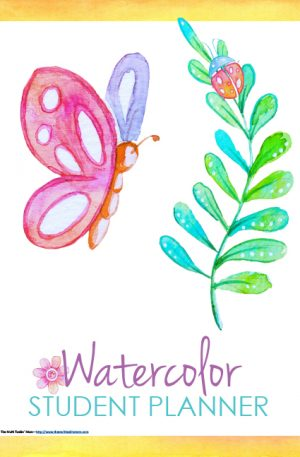 Watercolor Student Planner