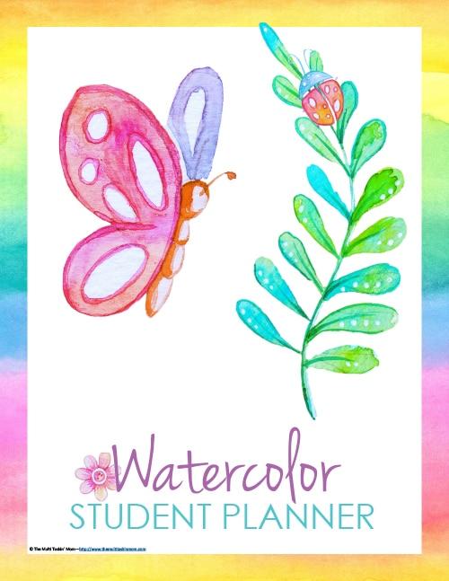 Student Planner - Watercolor-1