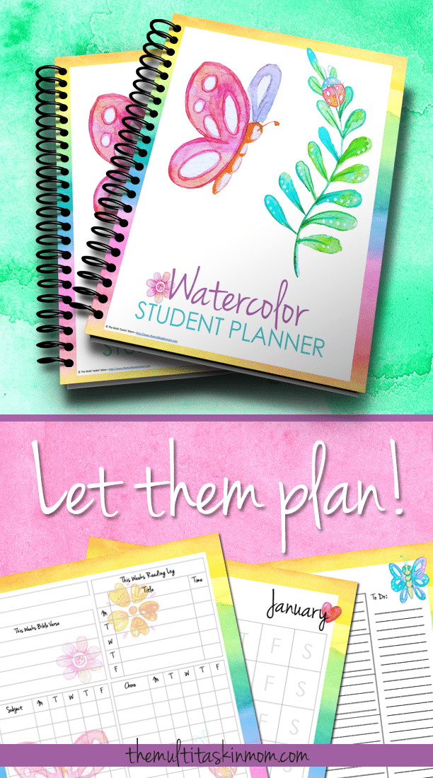 The Watercolor Student Planner is perfect for your older students