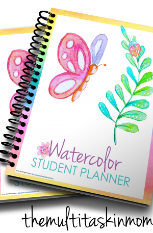 Watercolor Student Planner