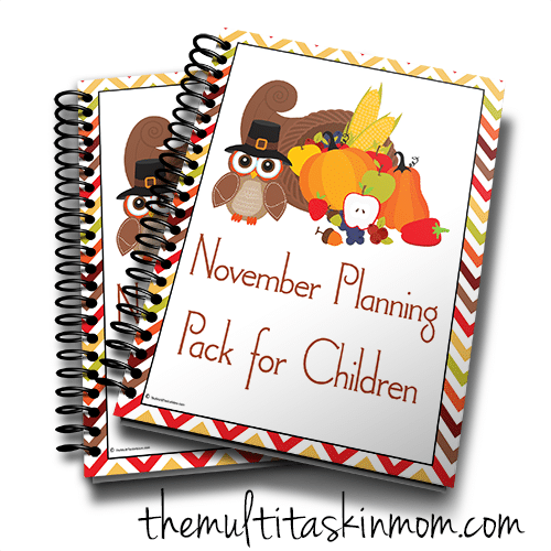 Nov Planning Pack for Children Cute Owl