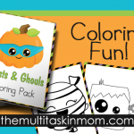 Ghosts and Ghouls Coloring Pack