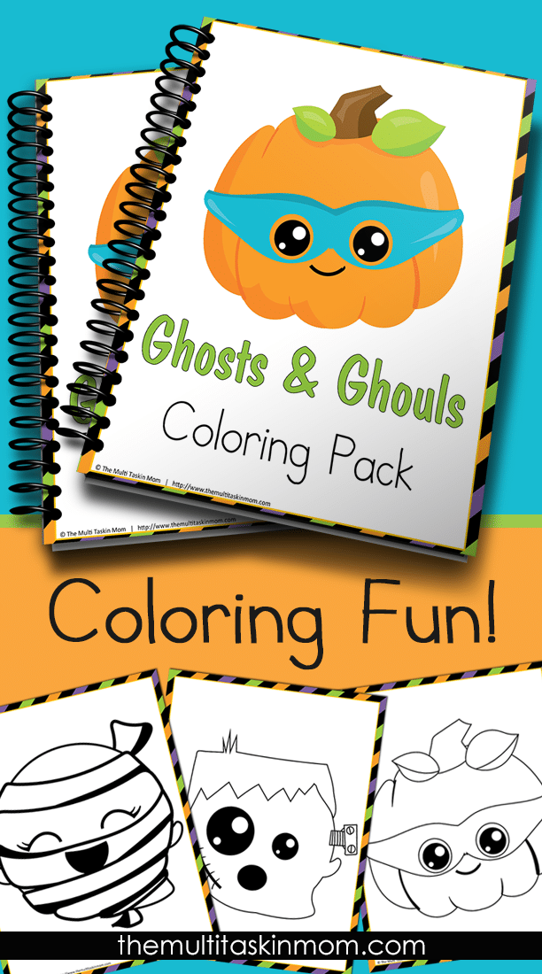 This Ghosts and Ghouls Coloring Pack if fun for children of all ages. Grab your pack today!