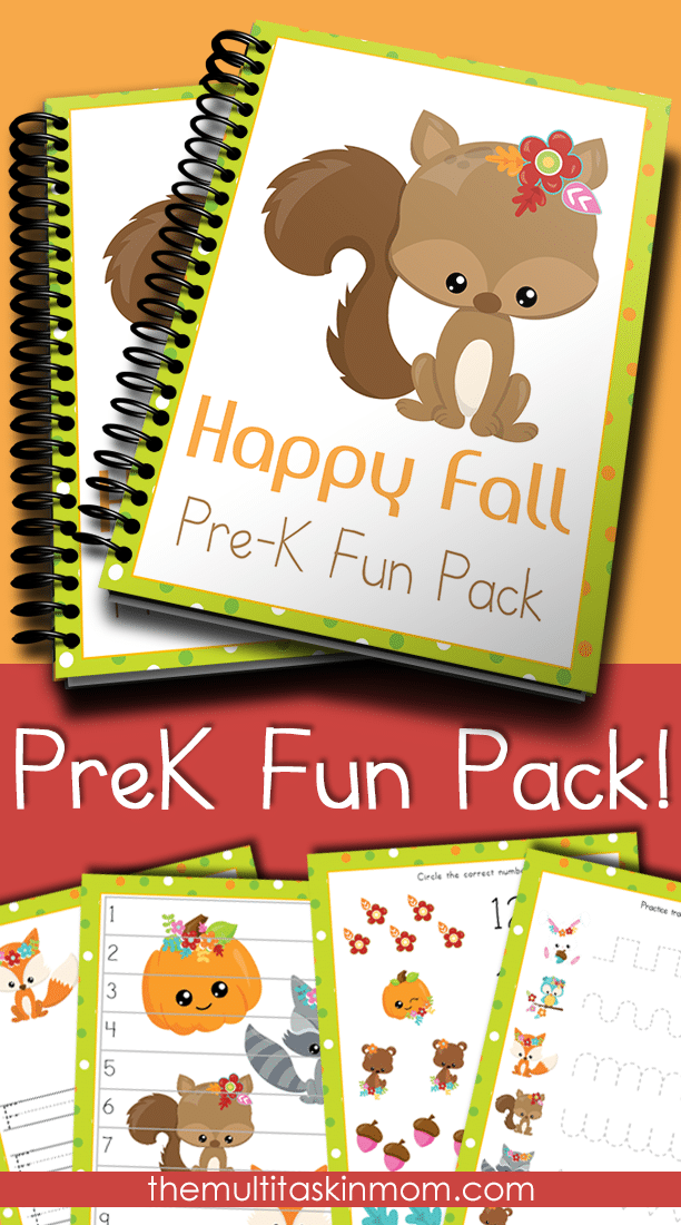 The Happy Fall PreK Fun Pack is exactly what you need to take a break from the big boxed curriculum you are using with your preschoolers. Just print and go and they will be occupied for hours.