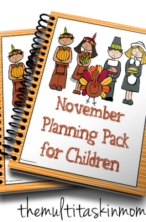 Nov Planning Pack for Children Pilgrim and Indian