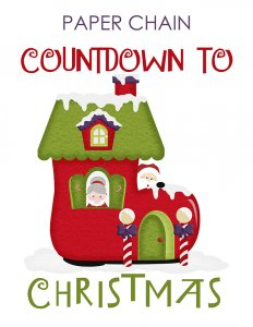 Paper Chain Countdown to Christmas Santa Theme