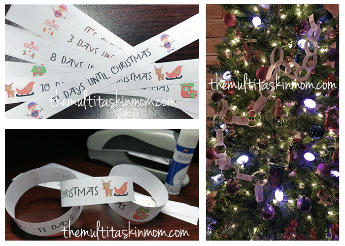 Paper Chain Countdown To Christmas The Multi Taskin Mom