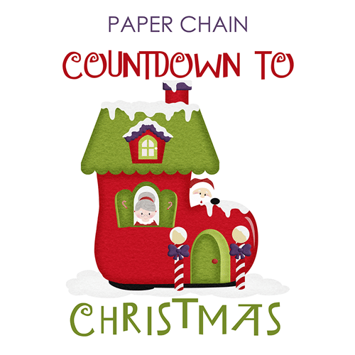 Paper Chain Countdown to Christmas Santa