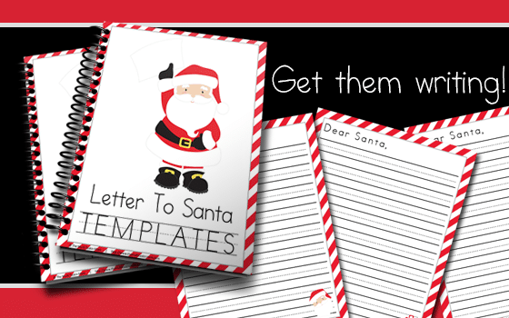 Get your children writing with these fun to use Letters to Santa Templates