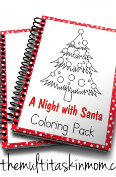 A night with Santa Coloring Fun Pack