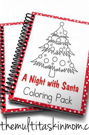 A Night with Santa Coloring Pack