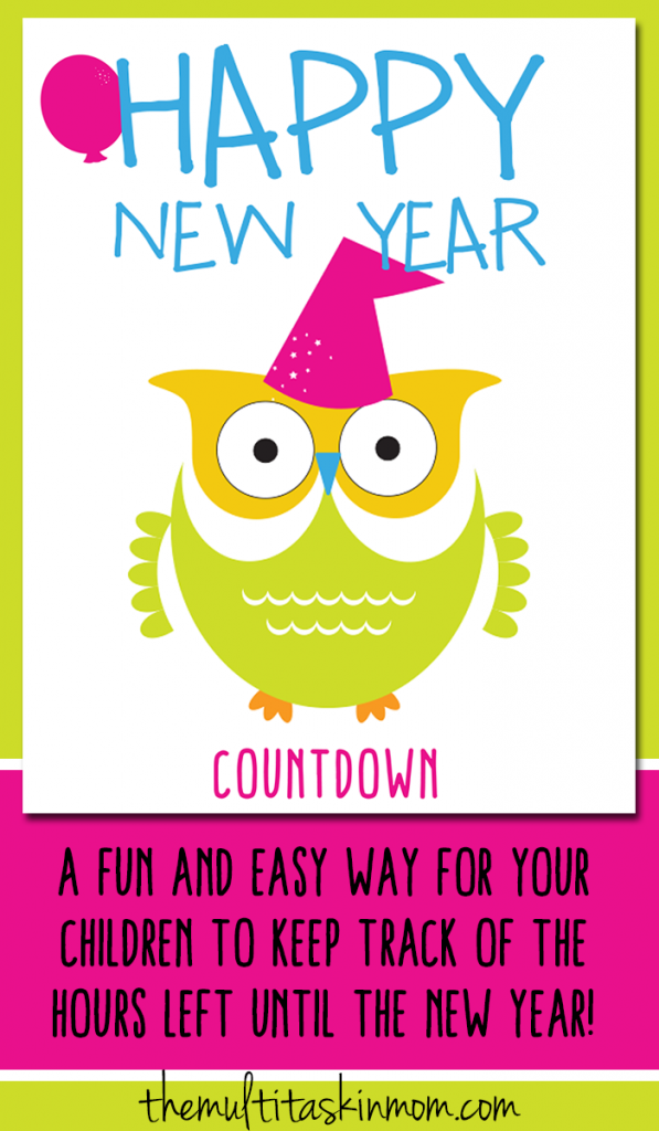 Let your children count down to the New Year with this fun and easy to use paper chain countdown.