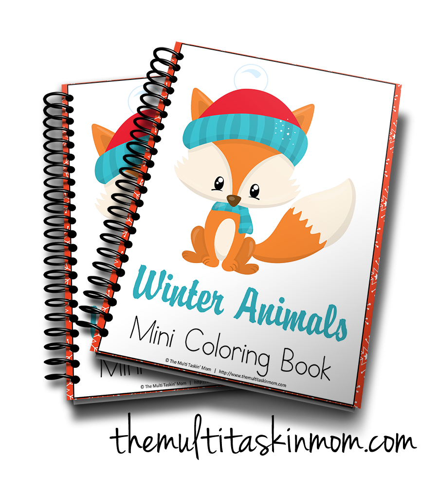Winter Animals Mini Coloring Book