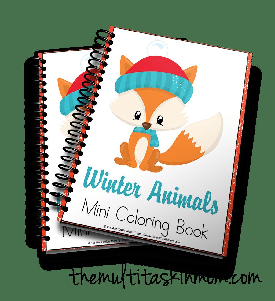 Winter Animals Mini Coloring Book 3D