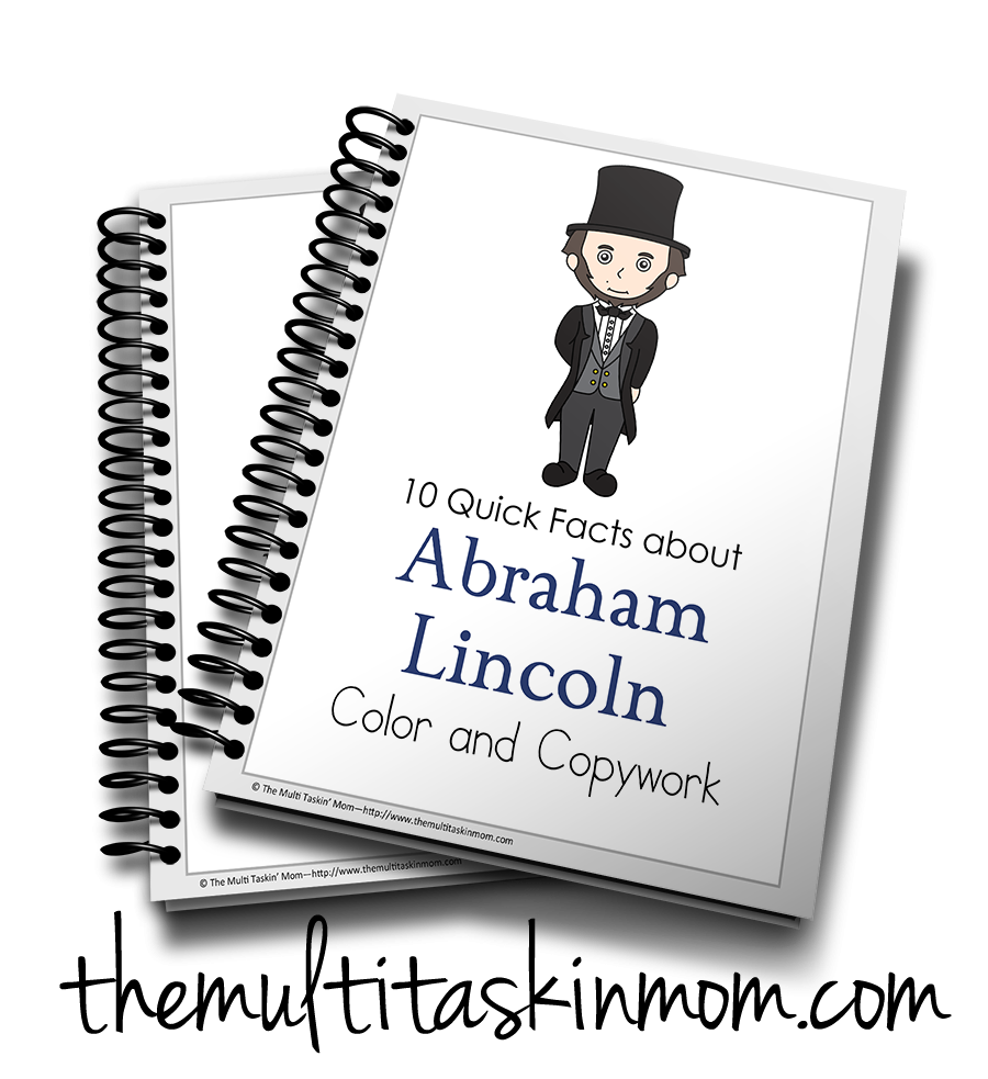 Abraham Lincoln Color and Copywork