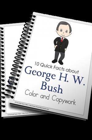 George H. W. Bush Color and Copywork