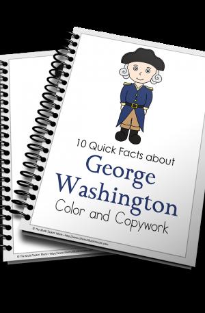 George Washington Color and Copywork