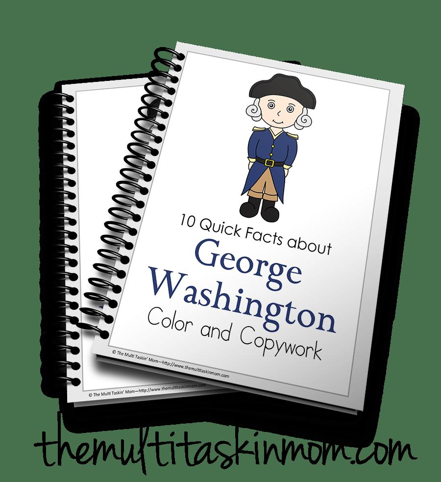 George Washington Color and Copywork - The Multi Taskin\' Mom