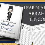Abraham Lincoln Facts – Color and Copywork