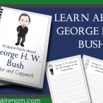 George H. W. Bush Facts – Color and Copywork