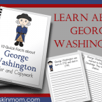 George Washington Fact – Color and Copywork