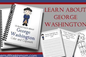 George Washington Fact – Color and Copywork
