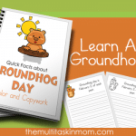 Quick Facts about Groundhogs Color and Copywork