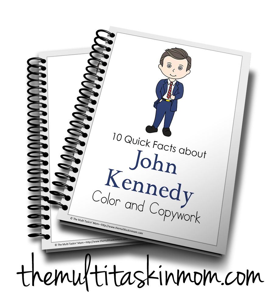 John Kennedy Color and Copywork