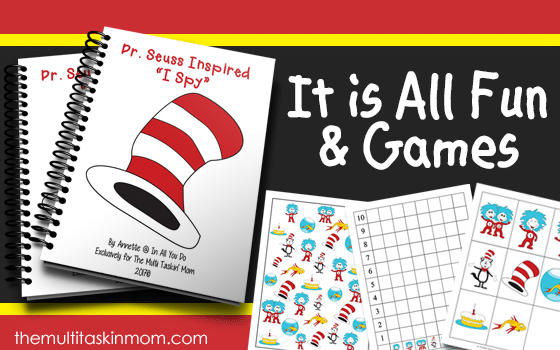 "Dr. Seuss Inspired ""I Spy"" Activity Set"