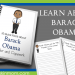 Barack Obama Facts – Color and Copywork