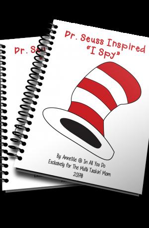 Dr Seuss Inspired I Spy Games