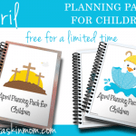 April Planning Packs for Children Free for Limited Time
