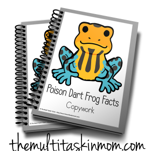 Poison Dart Frogs Copywork 3D