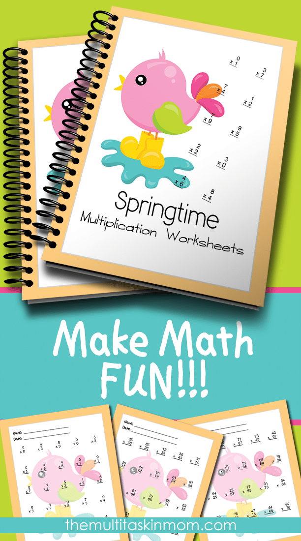 Springtime Multiplication Worksheets The Multi Taskin Mom – Make Multiplication Worksheets