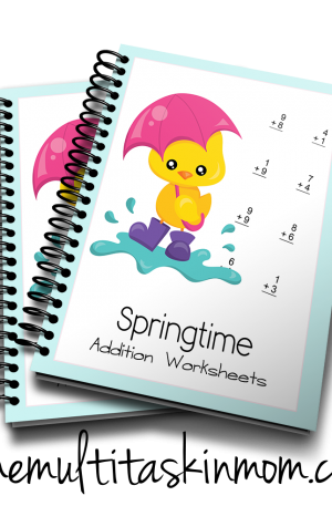 Springtime Addition Worksheets