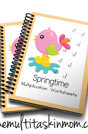 Springtime Multiplication Worksheets