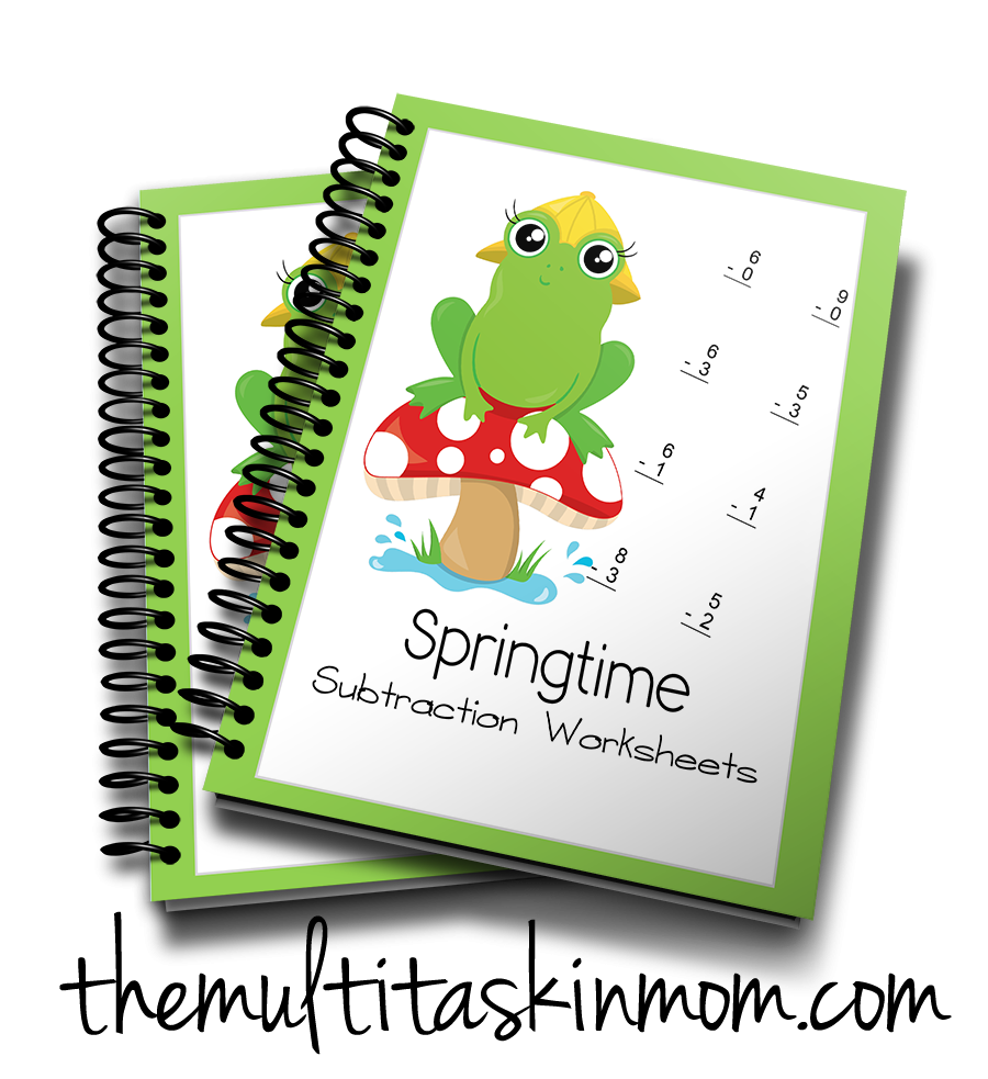 Springtime Subtraction Worksheets