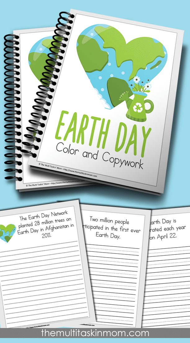 Earth Day Facts Color and Copywork is fun for all ages