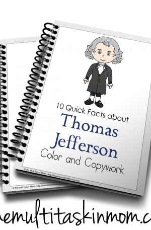 Thomas Jefferson Color and Copywork