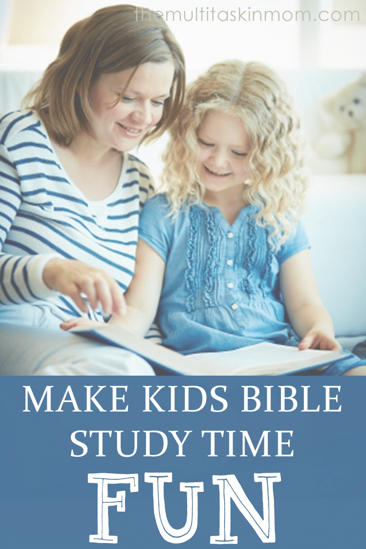 A New Tool To Make Kids Bible Study Time Fun during homeschool lessons or Sunday School class