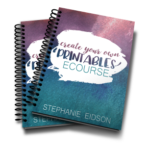 Create your own printables ecourse workbook