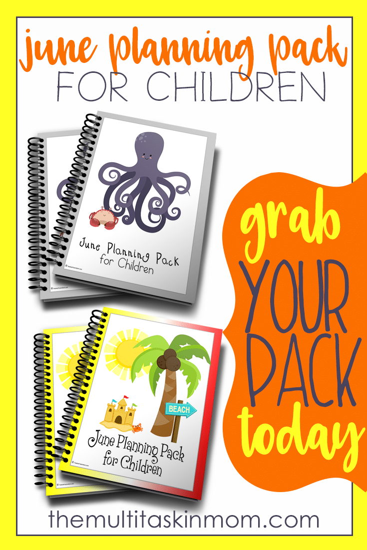 These awesome planning packs for children will get them excited to start working on time management and keeping up with their goals.