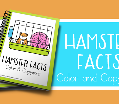 Pet Hamster Facts Color and Copywork