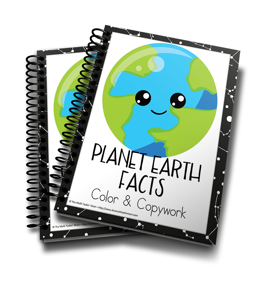 Planet Earth Facts Color & Copywork