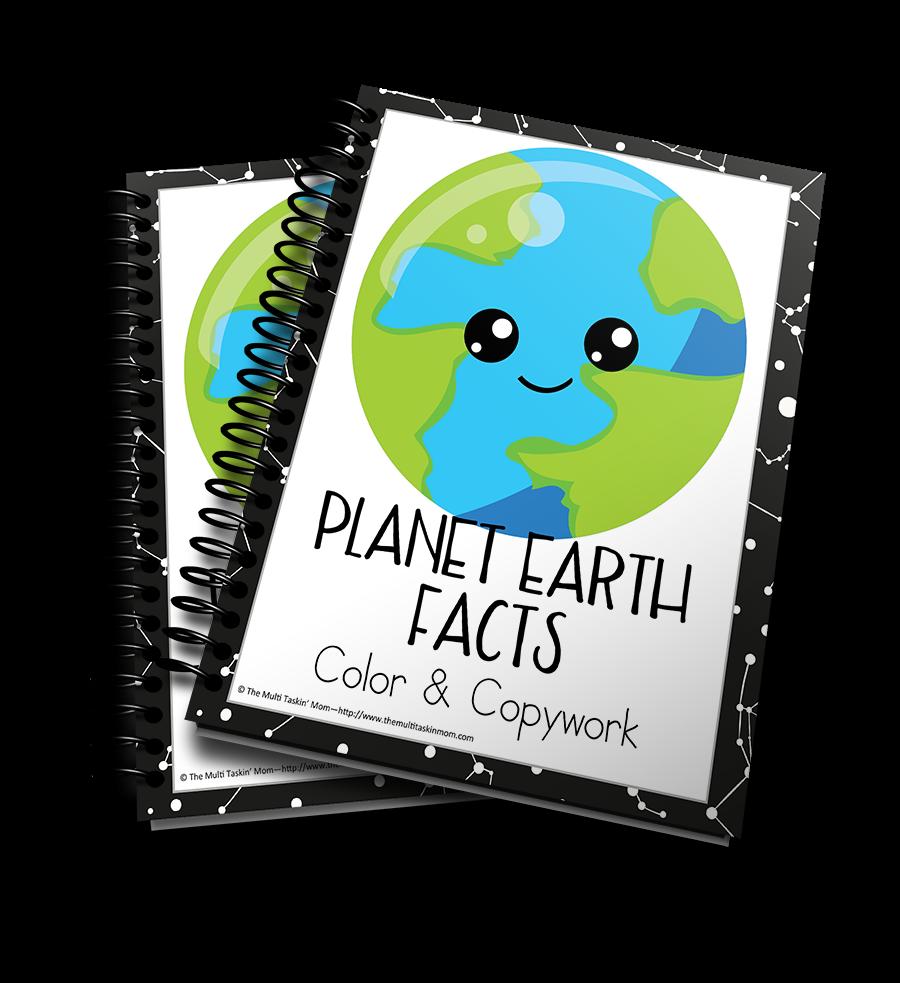 Planet Earth Facts Color & Copywork