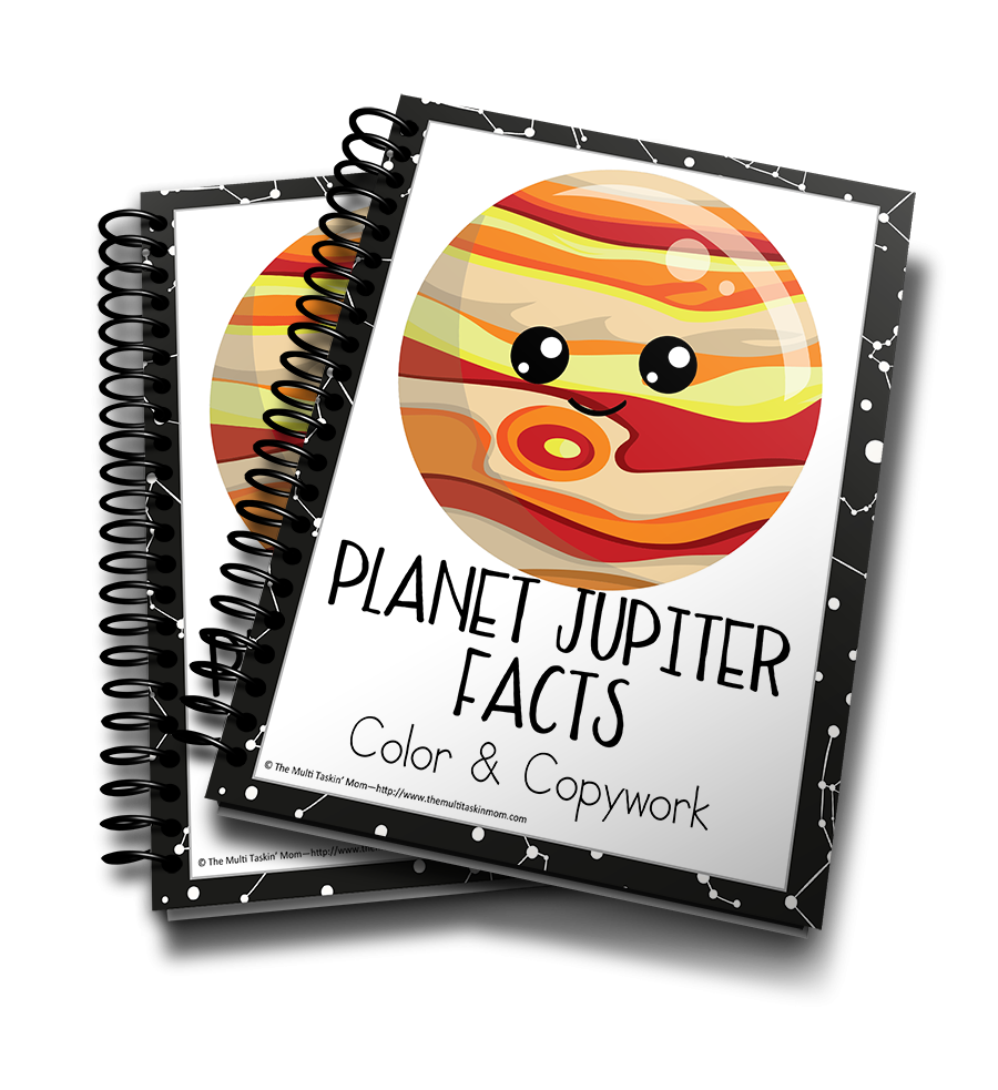 Planet Jupiter Facts Color & Copywork
