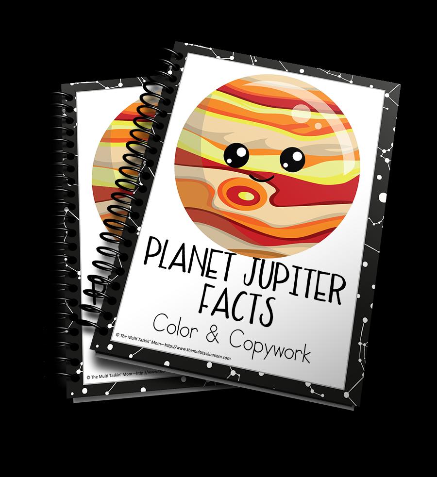 Planet Jupiter Facts Color & Copywork