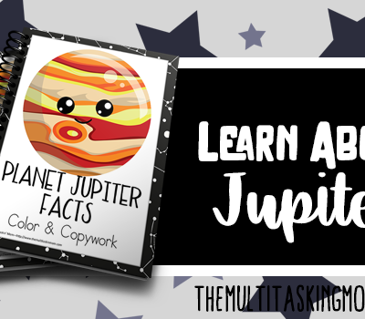 Planet Jupiter Facts Color and Copywork